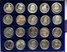 CCCP Russia MONETA COMMEMORATIVA 1 rubli monete commemorative in Sammelbox - 20 pezzi PROOF