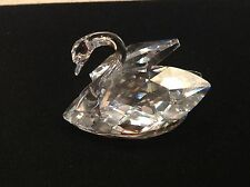 "Crystal Swarvoski Swan Clear Gorgeous 2"" Tall Marked Figurine Statue Collectible"