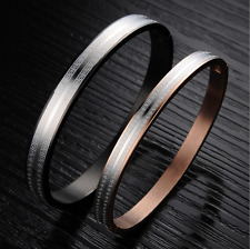 HOT 316L Stainless Steel Black&Gold retro bow pattern Design Love couple Bangles