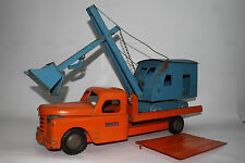Structo Large Pressed Steel Machinery Hauler with Shovel, Original