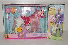 Barbie Pferd Horse Glitzerstein Melody Mattel 2002 *Funktion* NRFB + Doll *VHTF*