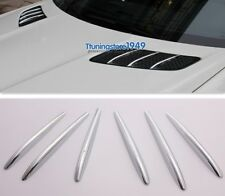 Chrome Hood Bonnet Vent molding Trim Fins Mercedes-Benz R172 SLK Class 2011-2015