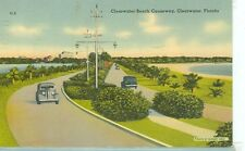 CLEARWATER,FL-CLEARWATER BEACH CAUSEWAY-LINEN-C-2(S333) 1943