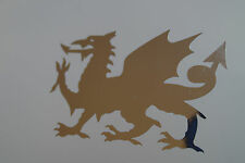 CHROME Welsh Dragon car bumper sticker decal-drift funny Cymru Wales Rugby