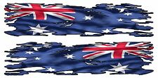 AUSSIE RIPPED FLAG BOAT CAR  DECAL 1320MM BY 300MM UTE contour cut gloss laminat
