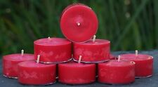 10pk 120hr/pack COUNTRY CHRISTMAS Triple Scented RED Pure SOY TEA LIGHT CANDLES
