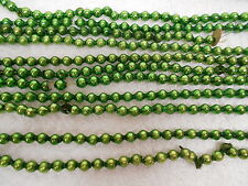 "vtg Mercury Glass Beads Garland 1/4"" Green approx 22 ft 7 inches"