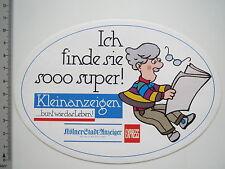 Aufkleber Sticker Kölnische Zeitung - Express - Kleinanzeigen (6889)