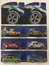 Complete 6 Car Set * Real Riders * Hot Wheels Heritage Bluebird 240Z Hare * N50