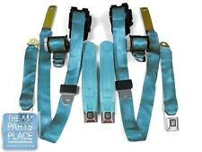 1978-81 Chevy Camaro / Pontiac Firebird Factory Seat Belt Set - Bright Blue