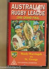 #JJ4.  RUGBY LEAGUE VHS VIDEO TAPE - 1996  GRAND FINAL