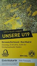 TICKET UEFA YL 2016/17 Borussia Dortmund - Real Madrid