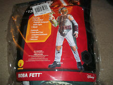 Star Wars Boba Fett Costume jumpsuit w cape make boys M 8 New