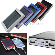 Cargador Portable Solar bateria 30000mAh Dual USB para iPhone HTC SamsungS5 Sony