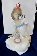 NAO BY LLADRO #1569 BREAKFAST BRAND NEW IN BOX GIRL WITH KITTEN CAT LOVER SAVE$$