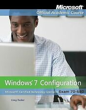 Windows 7 Configuration, Exam 70-680 by Craig Zacker Paperback Book (English