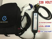 3XFASTER CHARGE Level-2 EVSE Upgraded 220 240 Volt Nissan Leaf EV Charger 30Feet