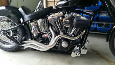 """2 1/2"""" STEPPED PERFORMANCE CUSTOM DRAG PIPES W POINTED ENDS  4 HARLEY"""