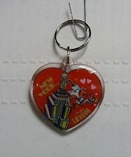 New York Is For Lovers, Heart Shaped Plastic Keychain by Kings, BRAND NEW