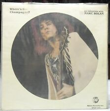"MARC BOLAN -  Rare Interview ""Where's The Champagne?"" LP Picturedisc"