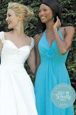 Allure Bridesmaid Dress Style 1202, Turquoise, size 12