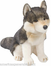 "ATKA Douglas Cuddle Toy plush 10"" tall WOLF stuffed animal toy timber gray akta"