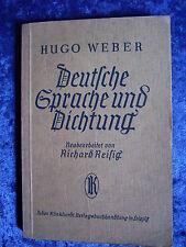 """""""Deutsche Sprache und Dichtung"""" von Hugo Weber (1930)"""