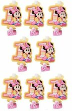 Disney Baby Minnie Mouse Birthday 8pc Blowouts Birthday Party Supplies~