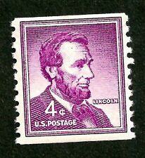 PAPER-GEMS sc#1058 lincoln old US/usa liberty coil stamp og nh MNH