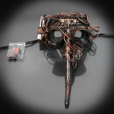 Steampunk Plague Doctor Theater Masquerade Mask for Men - Metallic Copper