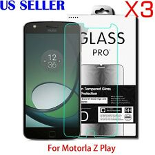 3X 9H Premium Tempered Glass Screen Protector For Motorola Moto Z Play Droid