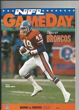 1993 CLEVELAND BROWNS VS DENVER BRONCOS NFL FOOTBALL PROGRAM