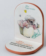 A25146 Beatrix Potter Nursery COLLECTION onorevole Tiggy Winkle SINGLE BOOKEND 1978 (2)