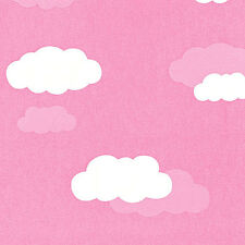"""SOFT COTTON 100% NOCTILUCENCE KIDS BABY FABRIC BEDDING WALL PANEL PINK CLOUD 44"""""""