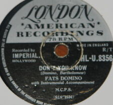FATS DOMINO ~ DON'T YOU KNOW HONEY CHILE ~ UK 78 RECORD ~ ROCK N ROLL ROCKABILLY