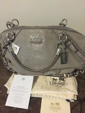 Authentic NWT Coach Madison Embossed Python Sophia Large #16346 SV/TP Taupe