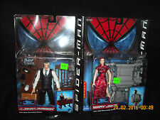 "Spider-Man Movie- ""J. Jonah Jameson"" & ""Mary Jane"" Figure Lot Of 2 /Toy Biz 2002"