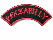 Rockabilly Red Rock N Roll Embroidered Sew Iron On Jeans Shirt Bag Badge Patch