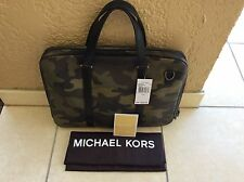 NWT Michael Kors Jet Set Slim Messenger/Briefcase  Camo Bag $498.00 + Dustbag