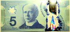 Gem UNC Canada $5 new polymer paper money Bank Notes Consecutive SNs in hand