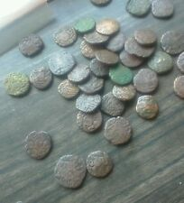10 Coins LOT - GOOD CONDITION 1000 YEAR OLD RAJARAJA CHOLA  COPPER COINS india