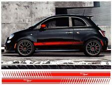 COPPIA FIAT 500 sport righe laterali vinile decalcomania grafica sidestripes Scelta Colore