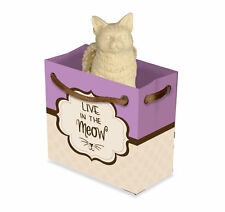 Live In The Meow Cat Angel Figurine Yarn Inspiration To Go Mini Gift Bag 2.25""