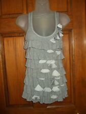 Gilly Hicks Sydney Gray Tiered Racer Back Tank Top - Size XS