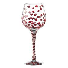 LOLITA - SUPERBLING RED HOT - WINE GLASS - MINT- NEW IN BOX
