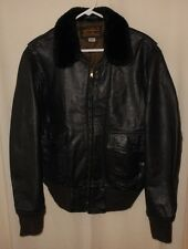 G-1 BOMBER FLIGHT LEATHER JACKET EDDIE BAUER GOAT SKIN  MILITARY STYLE  42