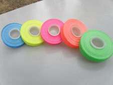 "5 Roll Pack UV Neon Gaffers Hoop Tape 1/2"" 15 ft Rolls ALL Neon Colors Hula"