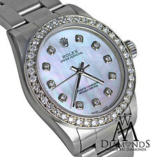 Rolex Diamond Oyster Band Hologram Pearl Diamond Dial 26mm No date Automatic