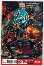 AVENGERS #2 - JONATHAN HICKMAN STORY - DUSTIN WEAVER COVER - MARVEL NOW - 2013