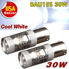 2X Cool White BAU15S PY21W High Power 30W Projection LED Turn Signal Light Bulbs